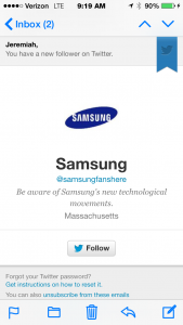 Obviously Samsung are big fans of my work.